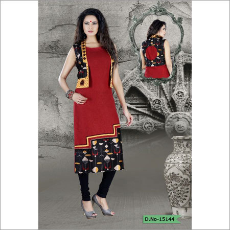 Ladies Linen Short Jacket Fancy Kurti Ladies Linen Short Jacket