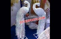 Wedding Decor Flower Peacock Statues