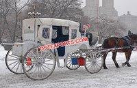 English Wedding White Horse Buggy