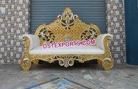Muslim Wedding Brass Metal Craved Sofa