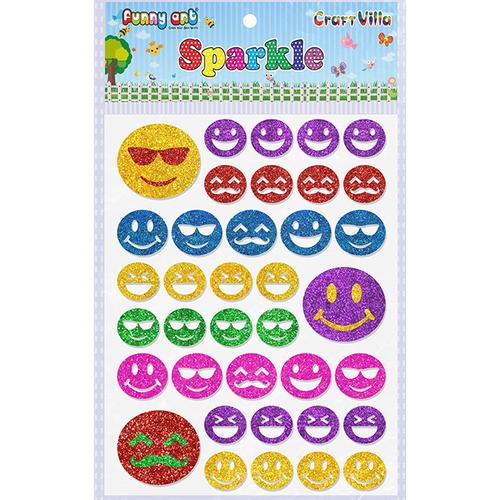 Craft Villa Sparkle Smiley Glitter Sticker