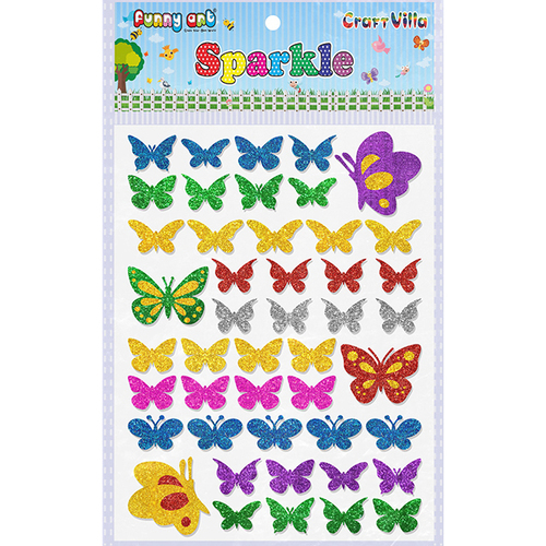 Craft Villa Sparkle Butterfly Glitter Sticker