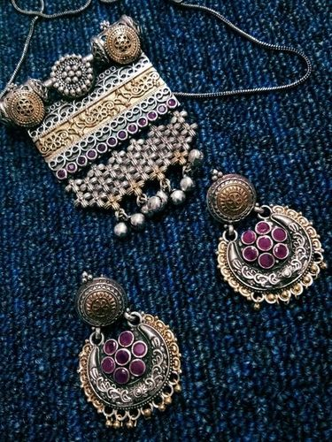 Oxidized Earring
