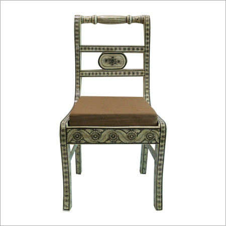 Silver Framed Bone Inlay Chair