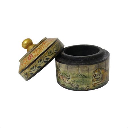 Round Bone Inlay Storage Box