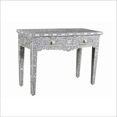 Silver Bone Inlay Table Drawer