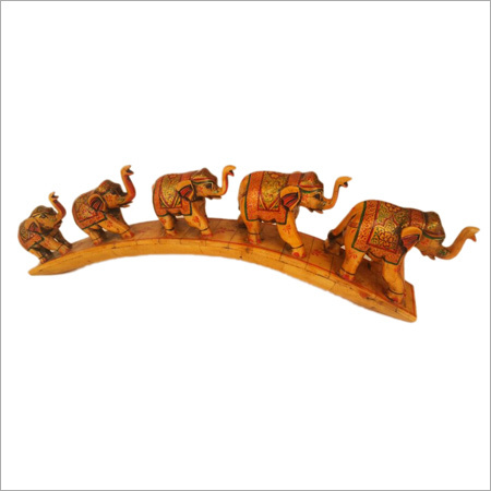 Bone Inlay Handmade Elephants