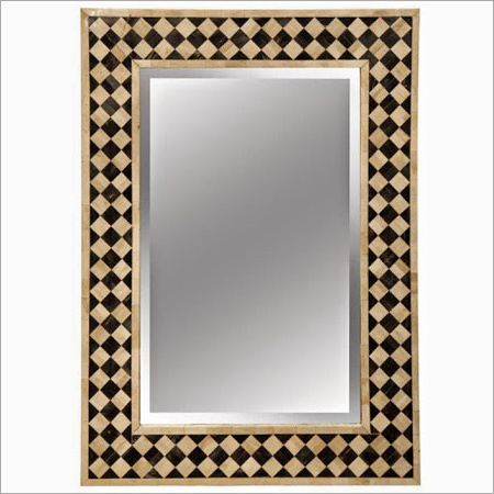 Golden Framed Bone Inlay Mirror