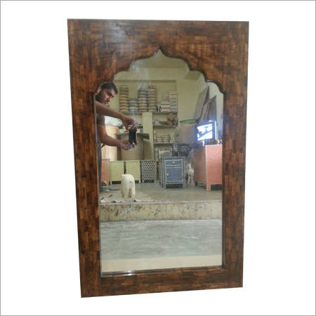 Jharokha Design Bone Inlay Mirror