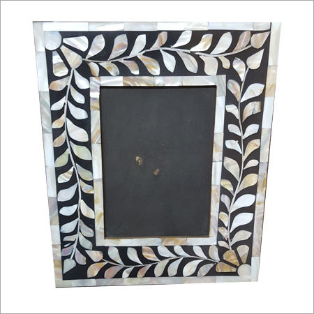 Silver Leaf Bone Inlay Mirror