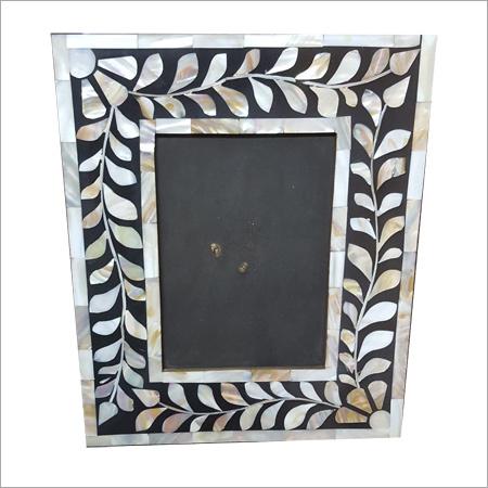 Silver Leaf Bone Inlay Mirror