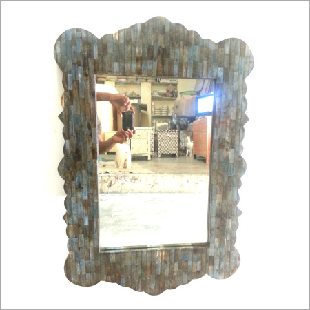 Wooden Bone Inlay Mirror