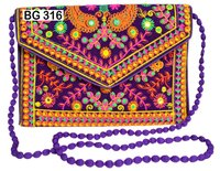 Vintage Banjara Velvet Fabric Clutch Bag