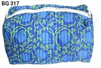 Vintage Cotton Block Print Make-up Purse