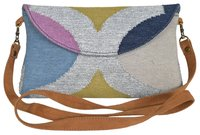 Vintage Multi Color Zari Dhurrie Clutch Bag