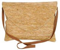 Gold Vintage Chindi Rag Rug Clutch Bag