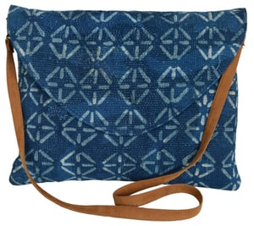 Hand Block Print Cotton Dhurrie Clutch Bag