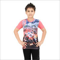 Boys Cotton Printed T-Shirt
