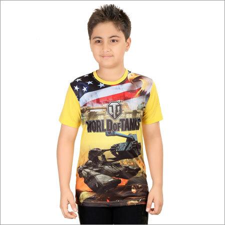 Boys Multicolor Cotton T-Shirt