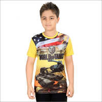 Boys Multicolor Cotton T-Shirt