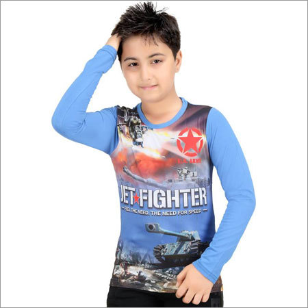 Boys Full Sleeves Cotton T-Shirt