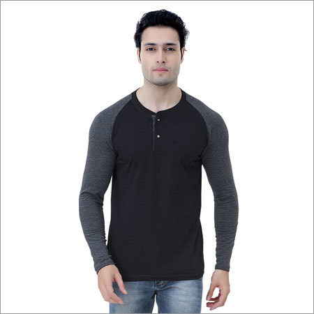 Mens Black And Grey T-Shirt