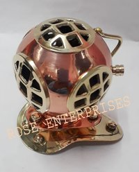 Brass and Copper Finish Home Decor Mini Diving Helmet