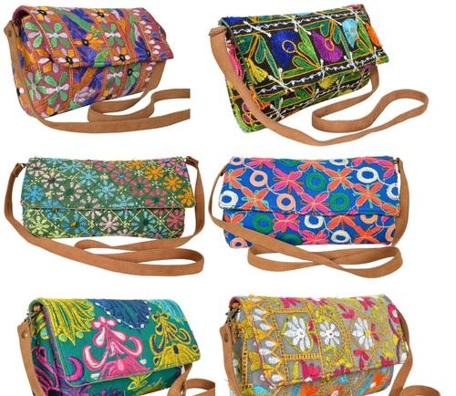 Vintage Cotton Embroidery Clutch Bag