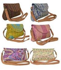 Vintage Silk Kantha Clutch Bag