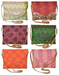 Vintage Designer Silk Kantha Clutch Bag