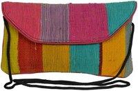 Vintage Rag Rug Dhurrie Clutch Bag