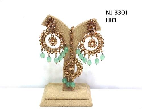 Crystal Polki Earring