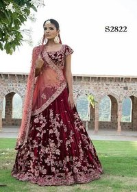 Red Bridal wear Heavy Worked Lehenga