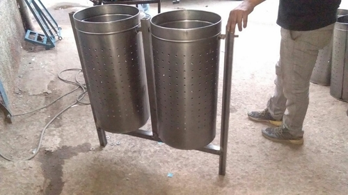 Stainless Steel Double Dustbin