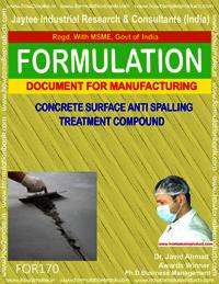 Concrete surface anti spalling treatment compound