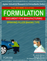 Spraying filler baking type for automobiles
