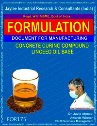 Concrete Curing Compound Linseed Oil Base