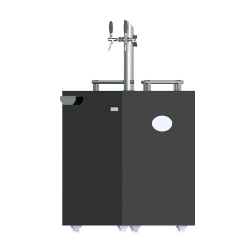Commercial Grade - 2 Tap Kegerator - Illuminated