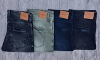 Men Blue Slim Fit Mid Rise Jeans