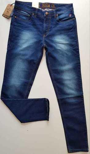 Mid Rise Slash Knee Jeans
