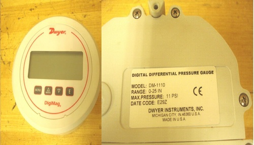 Dwyer USA DM-1110 Digi Mag Digital Pressure Gage With Range of 0 to 25 in w.c