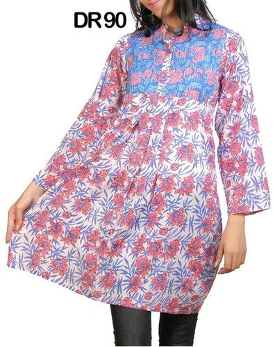 10 Cotton Hand Block Print Women's Frock Top Kurti DR90