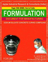 Sodium silicate concrete curing compound