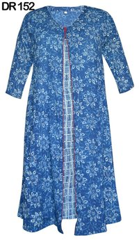 10 Cotton Hand Block Printed Long Dress DR152