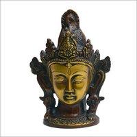 Brass Lord Shiva Head Statue