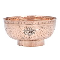 Copper Embossed Bowl