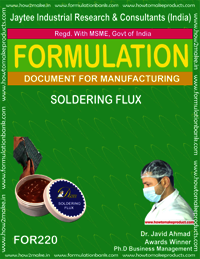 Formula for soldering flux making