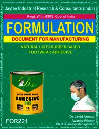 Natural latex rubber based footwear adhesive