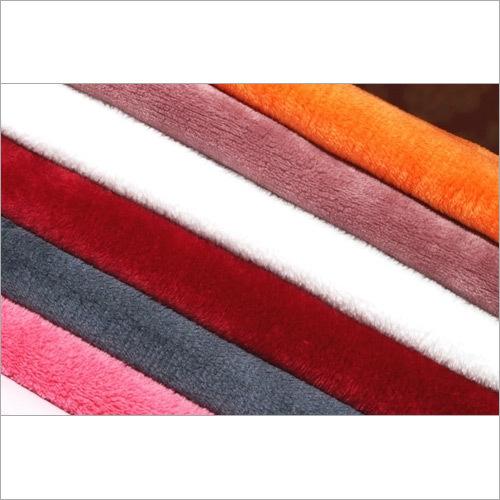 Plain Multicolor Coral Fleece fabric