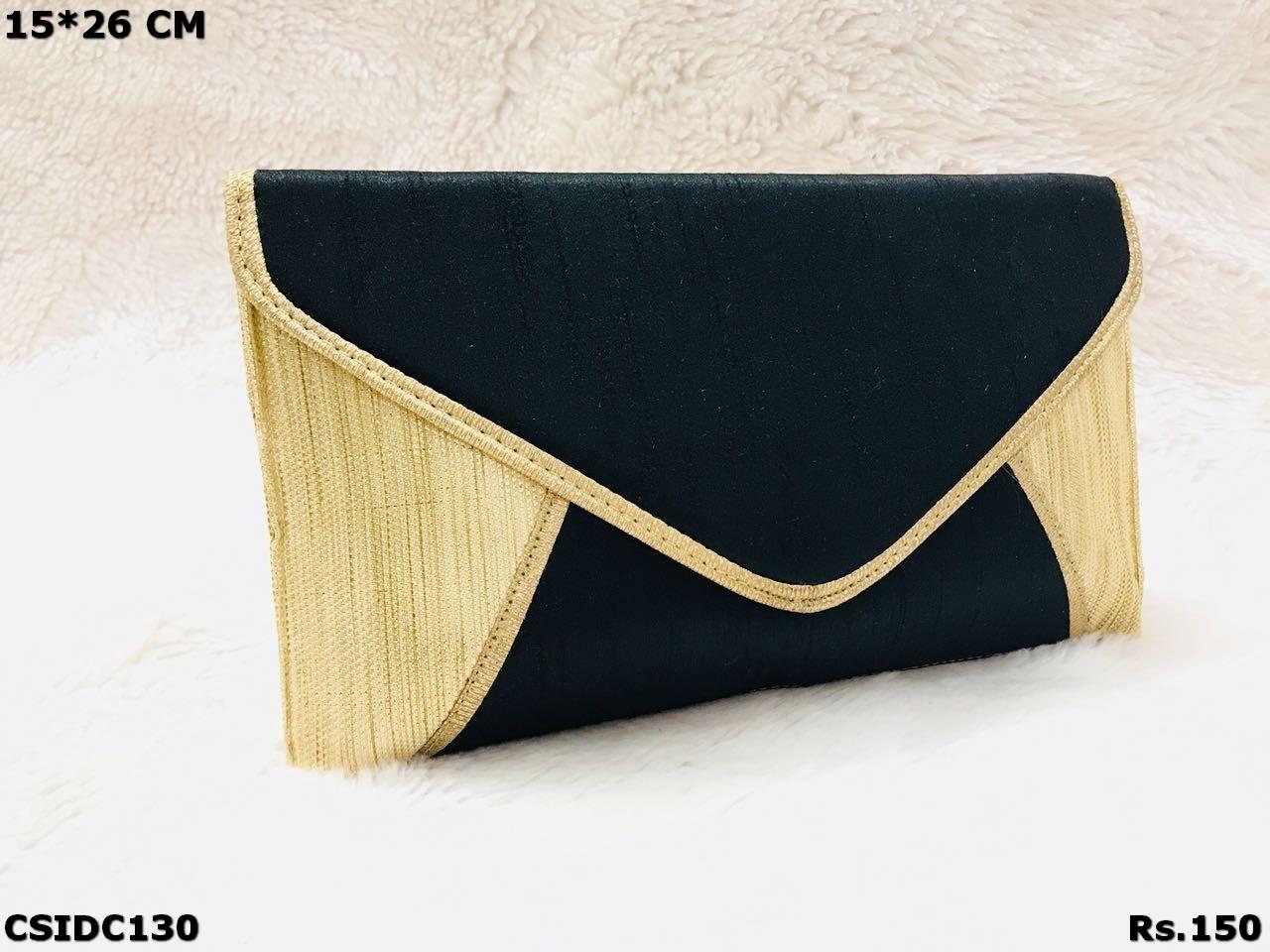 Simple Raw Silk Clutch